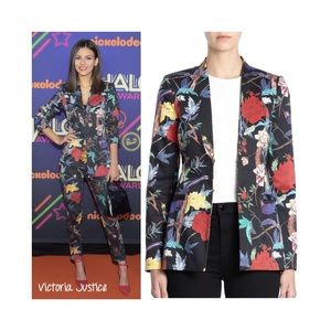 Alice + Olivia long collarless blazer 6